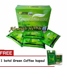 Leptin Green Coffee 1000 1Box 18 Sachet dan Green Coffee Ekstrak Kapsul - Penahan Nafsu Makan