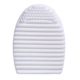 Lucky - Brush Egg Cleaning Brush Tool Beauty Makeup Tools - White
