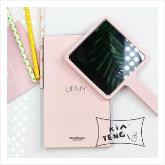 Harga baru Lucu merah muda portabel es krim portabel cermin cermin genggam cermin cermin cermin Bandingkan Simpan