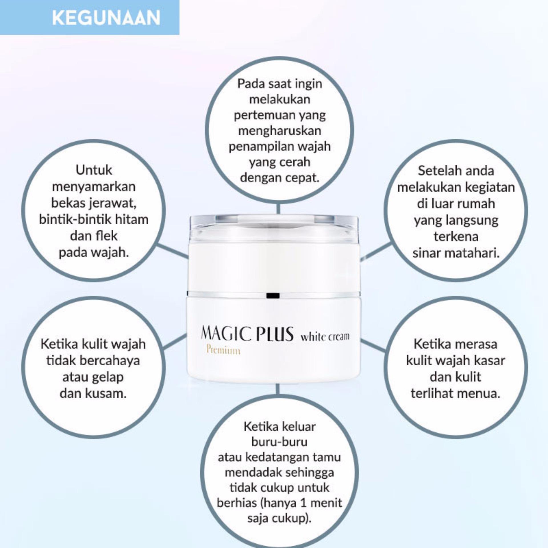 Magic Plus White Cream Asli Krim Korea Daftar Harga Terlengkap Premium 100 Original Lejel Home Shopping As Seen On Tv Pemutih Wajah Aman Kulit Halus Lembut Kencang