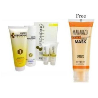 Harga Makarizo Rebonding System Tube untuk Rambut Keriting ikal, termasuk Shampo dan Conditioner 1 Paket + Masker Rambut Tube 45ml Murah