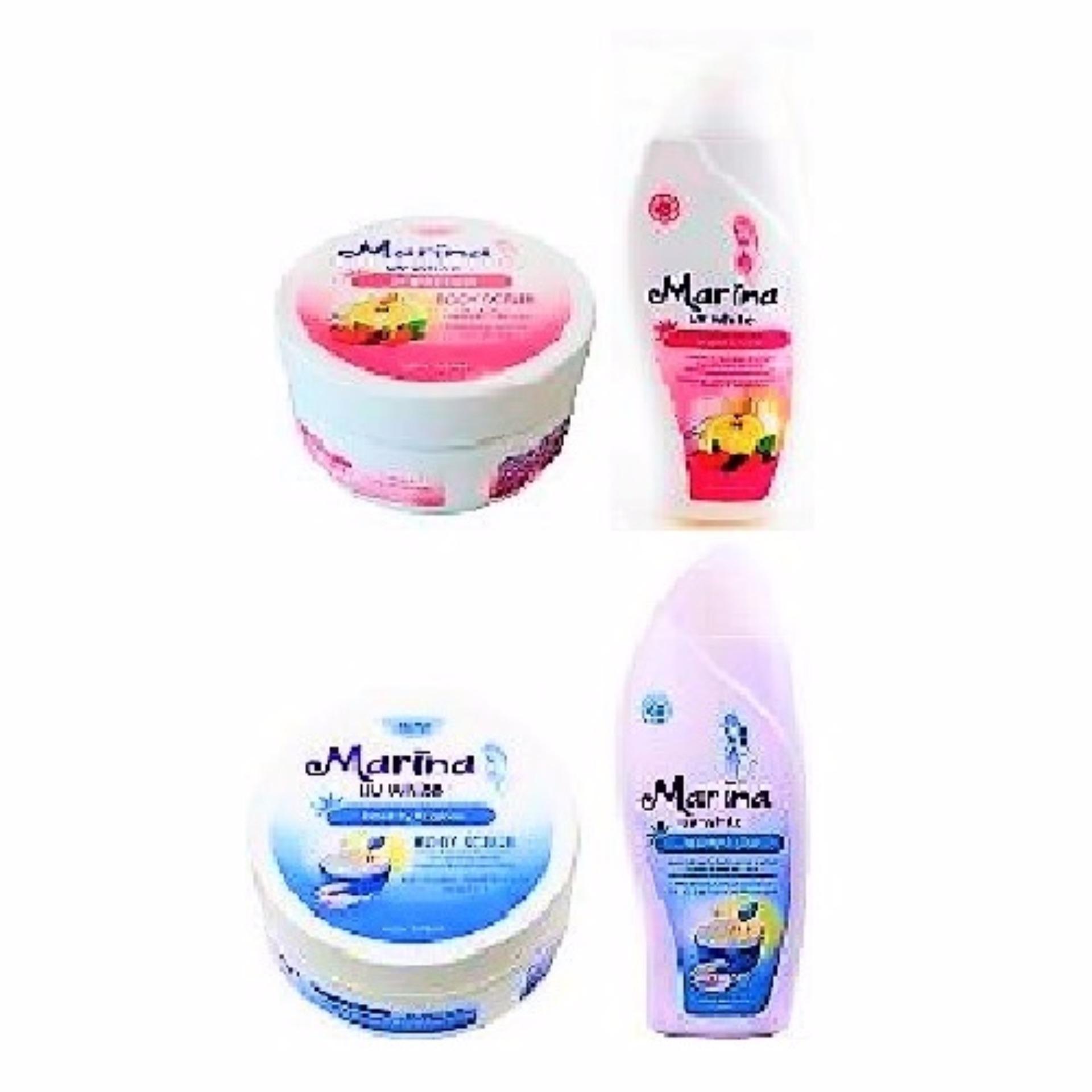 Diskon Penjualan Marina Body Scrub 200 Ml Hand Lotion 100 Satto Ampamp Whitening Moisturizer 200ml 1 Pakethealthy Glow