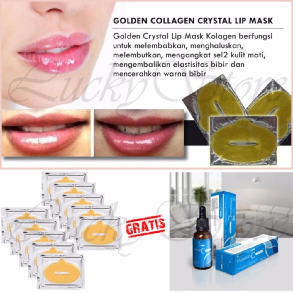 Hanasui Serum Vitamin C Kuning 20ml Daftar Harga Terbaru Dan Collagen Masker Bibir Gold Lip Mask 10 Pcs Free
