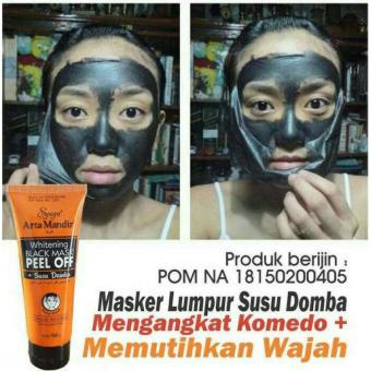 Masker Lumpur Susu Domba Syuga Whitening - Black Mask Peel Off - 100 Gram