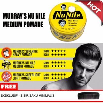 Harga Minyak Rambut Pomade Murrays Nu Nile (Agak Kaku + Agak Mengkilap) 100% ORIGINAL USA Murah