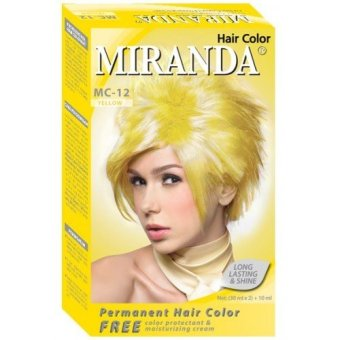 Harga Miranda Hair Color MC12- Kuning Murah