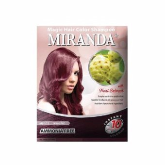 Harga miranda magic color shampoo WINE RED 30ml Murah