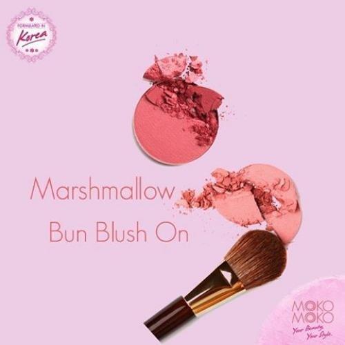 Moko Moko Marshmallow Blush on Peach Pewarna Pipi Alami Korean Blush On .