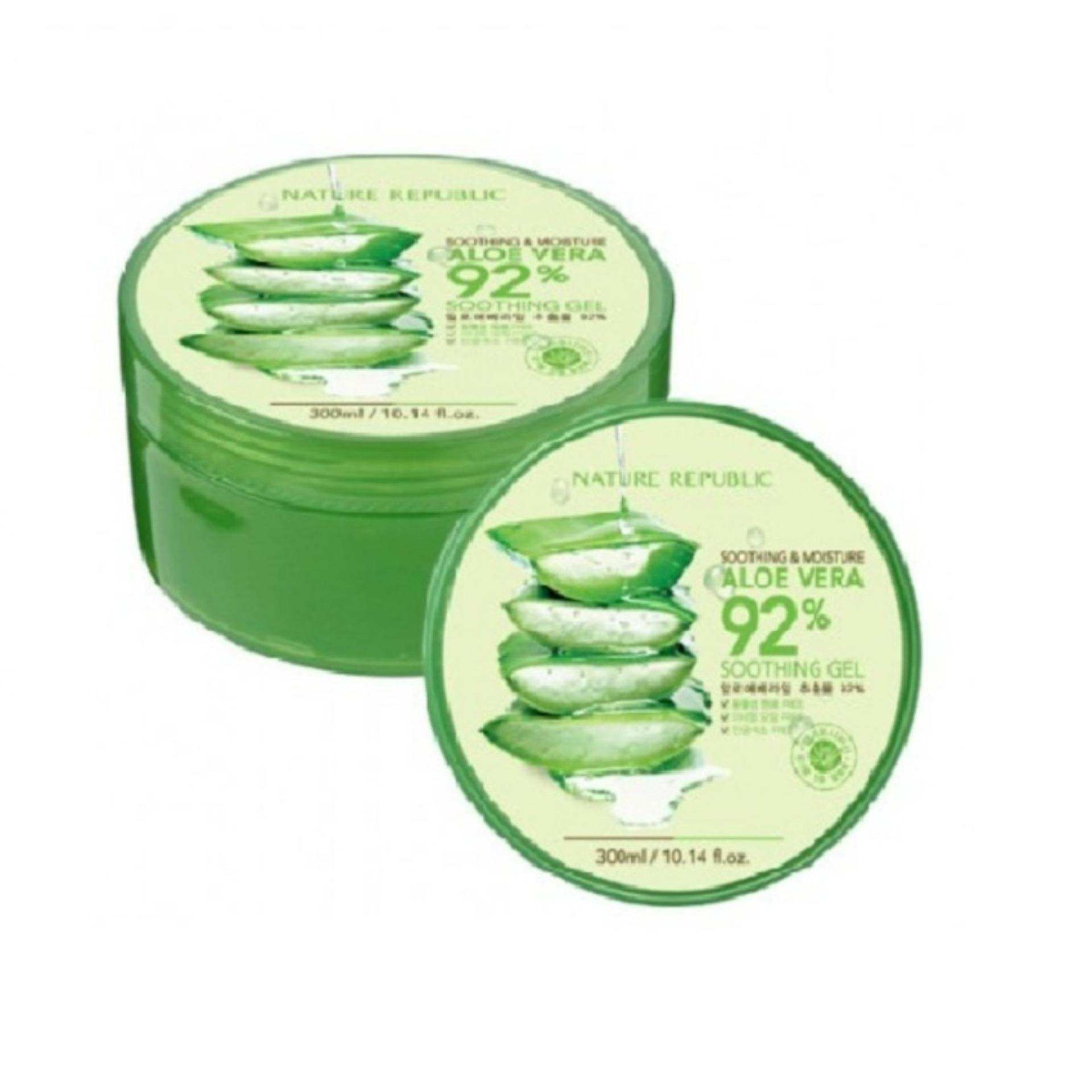 Perbandingan Harga Nature Republic Aloe Vera 92 Soothing Gel 300 Ml 300ml Original Flash Sale