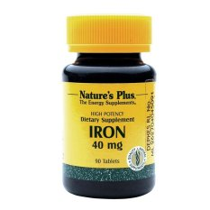 Nature's Plus Iron 40 mg -180 Tablets