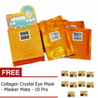 Naturgo - Masker Lumpur - 10 Pcs + Gratis Collagen CrystalEye Mask - 10 Pcs