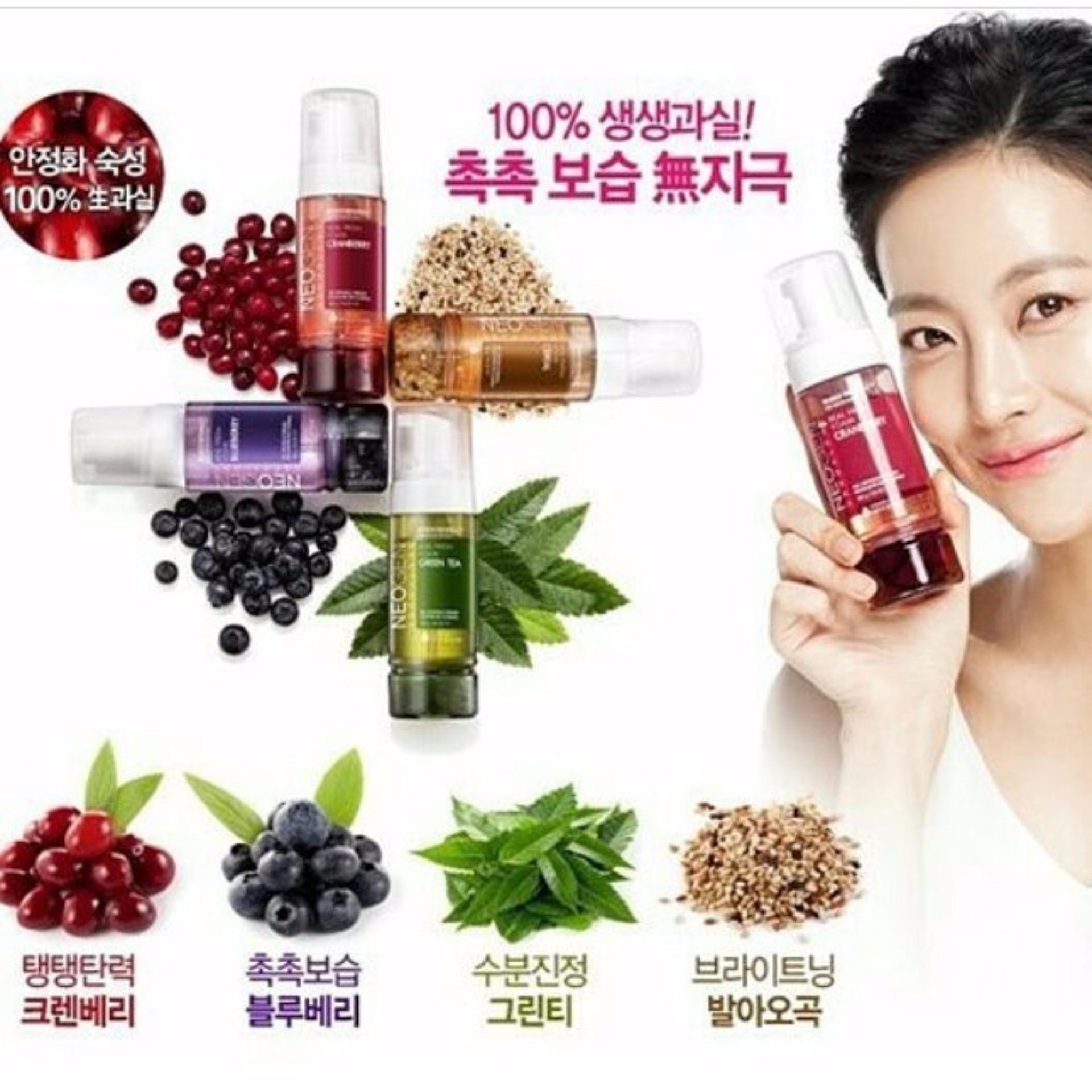 Neogen Dermatologi Real Fresh Foam Green Tea Daftar Harga Terkini Dermalogy Cranberry 160ml Dermalogi