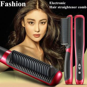 Harga Newest Hot 39W Electronic Hair Straightener Ceramic Ionic FlatInstant Magic Comb Hair Brush – intl Murah