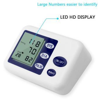 niceEshop Rumah Digital tekanan darah dengan lengan memonitor denyut jantung monitor dan manset .
