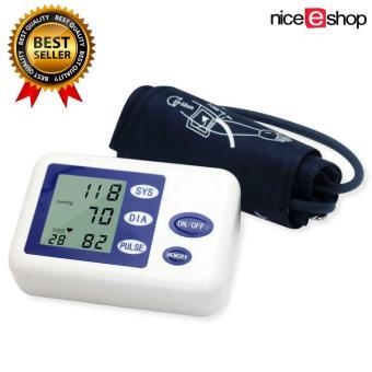 niceEshop Rumah Digital tekanan darah dengan lengan memonitor denyut jantung monitor dan manset (putih)