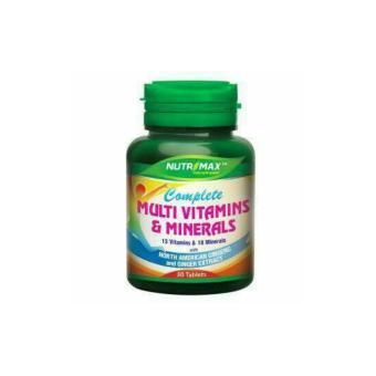 Nutrimax Complete Multi Vitamins & Mineral 30's - Multivitamin, Meningkatkan Daya Tahan Tubuh Stamina,