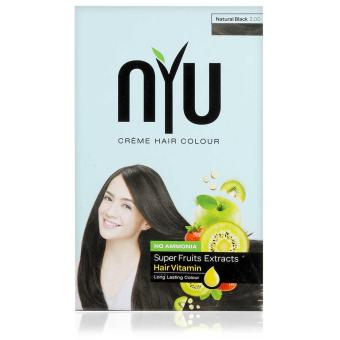 NYU Creme Hair Colour - NATURAL BLACK - 30gram