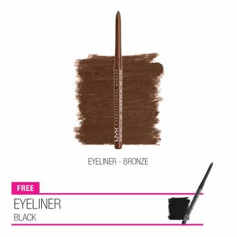 NYX Professional MakeUp Eyeliner Set Buy 1 Get 1 - Black + Bronze
