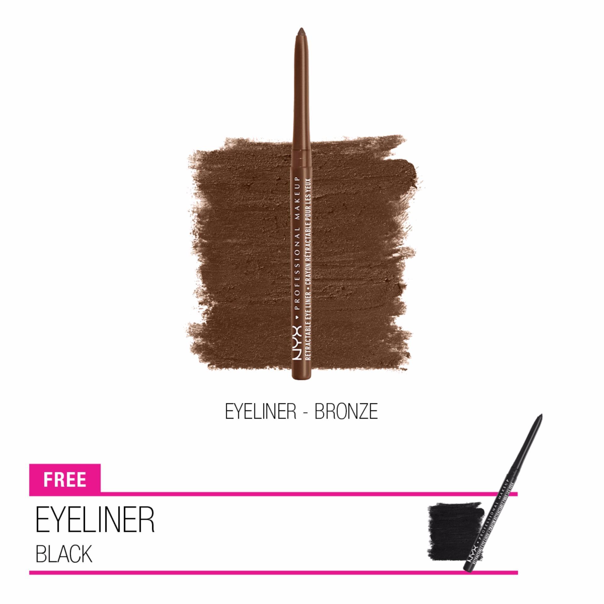 Cari Bandingkan Nyx Professional Makeup Eyeliner Set Buy 1 Get Warna Putar Black Bronze