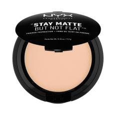 NYX Professional Makeup Stay Matte But Not Flat Powder Natural - Compact Powder/Bedak Padat untuk kulit Normal & Berminyak Hasil Matte dan Flawless