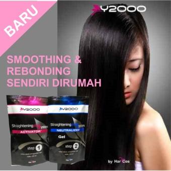 Harga OBAT PELURUS RAMBUT Y2000 SELF HAIR STRAIGHTENING GEL . SMOOTHING – REBONDING Murah