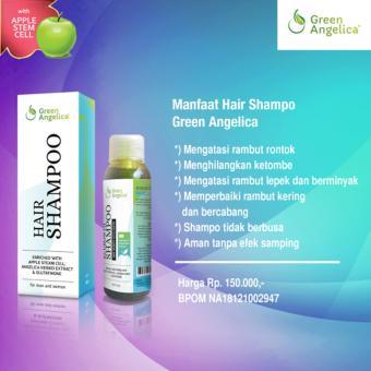 Obat Uban Penghitam Rambut & Shampo Green Angelica Untuk Rontok Ketombe dan Menghitamkan .