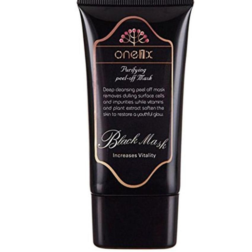 ... ONE1X Beauty Activated Natural Charcoal Black Mask Blackhead Peel Off Remover Cream Deep Skin Clean Purifying ...