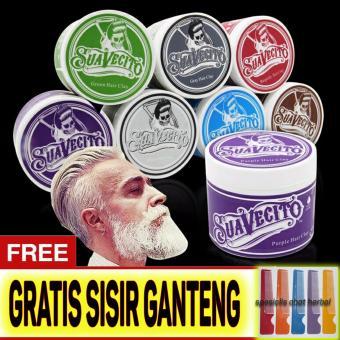 Harga Original Suavecito Hair Pomade Murah Ganteng Maksimal WarnaWaterbase Non Permanen – Gratis Sisir – Warna Merah Murah