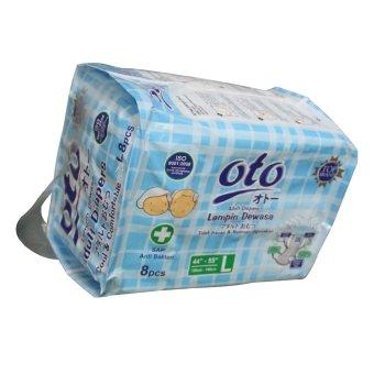 Oto Adult Diapers / Popok Dewasa Ukuran L - Isi 8 x - Putih - 3