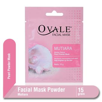 Ovale Facial Mask Powder Mutiara Sachet 15 gr
