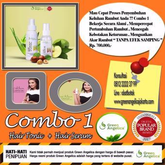 Harga Paket Combo 1 Untuk Kerontokan Parah dan Awal Kebotakan Green Angelica Penumbuh Rambut orang indonesia Murah
