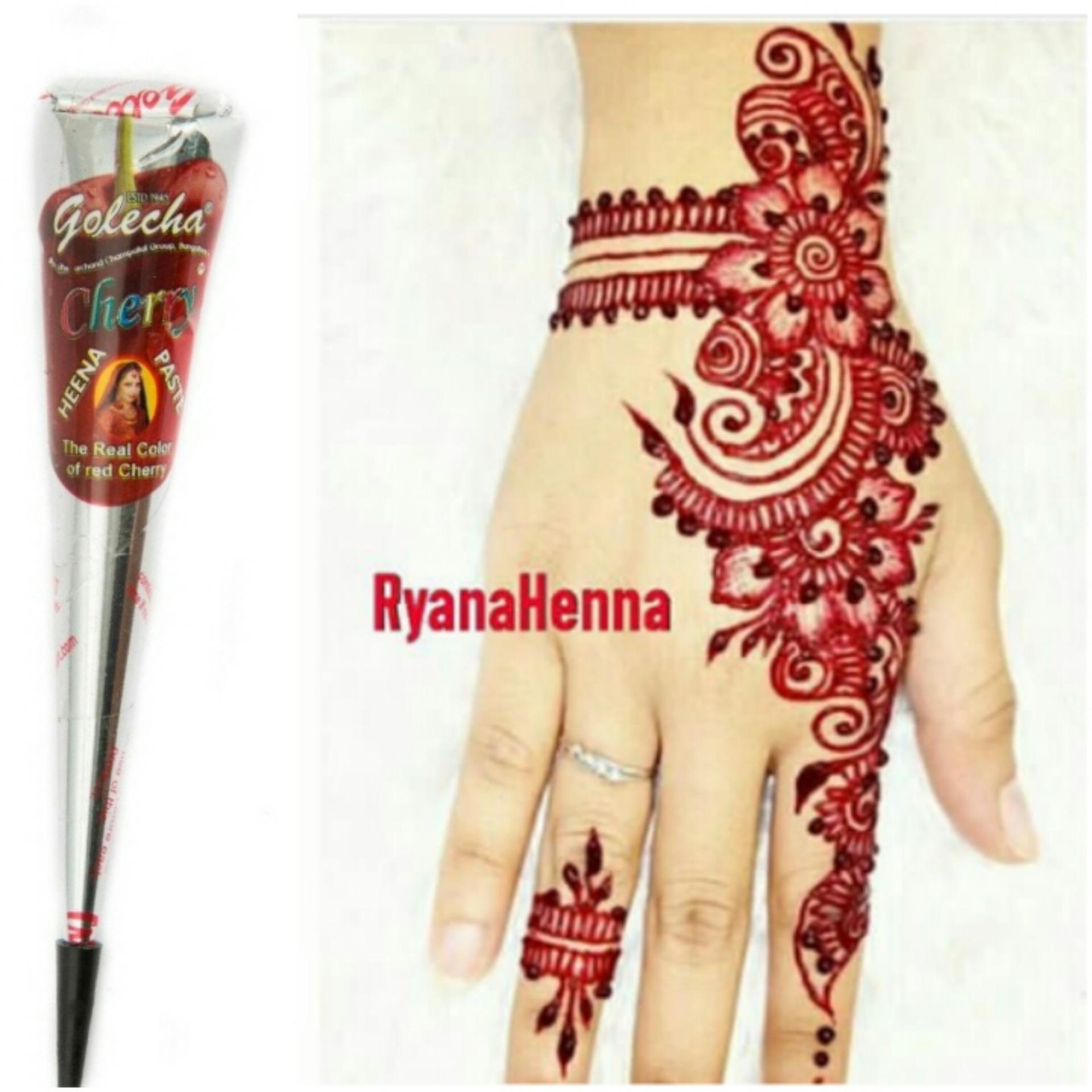 Diskon Penjualan Paket Hemat Henna Golecha Black Dan Red Chery 1