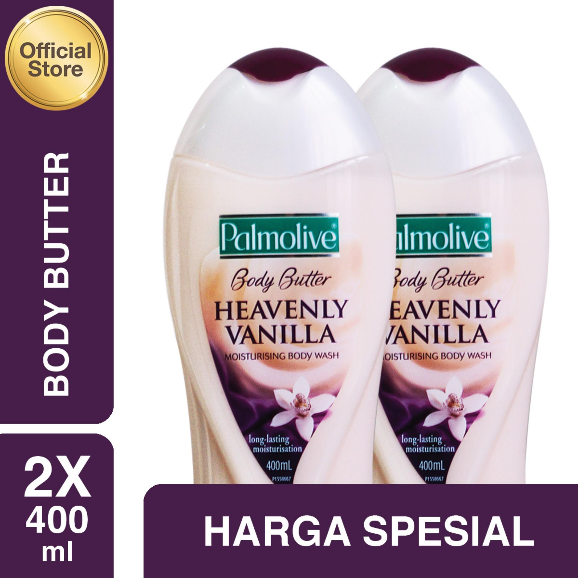 Bandingkan Toko Palmolive Body Butter Heavenly Vanilla Wash Showergel Sensual 450ml Sabun Mandi 400ml 2 Pcs