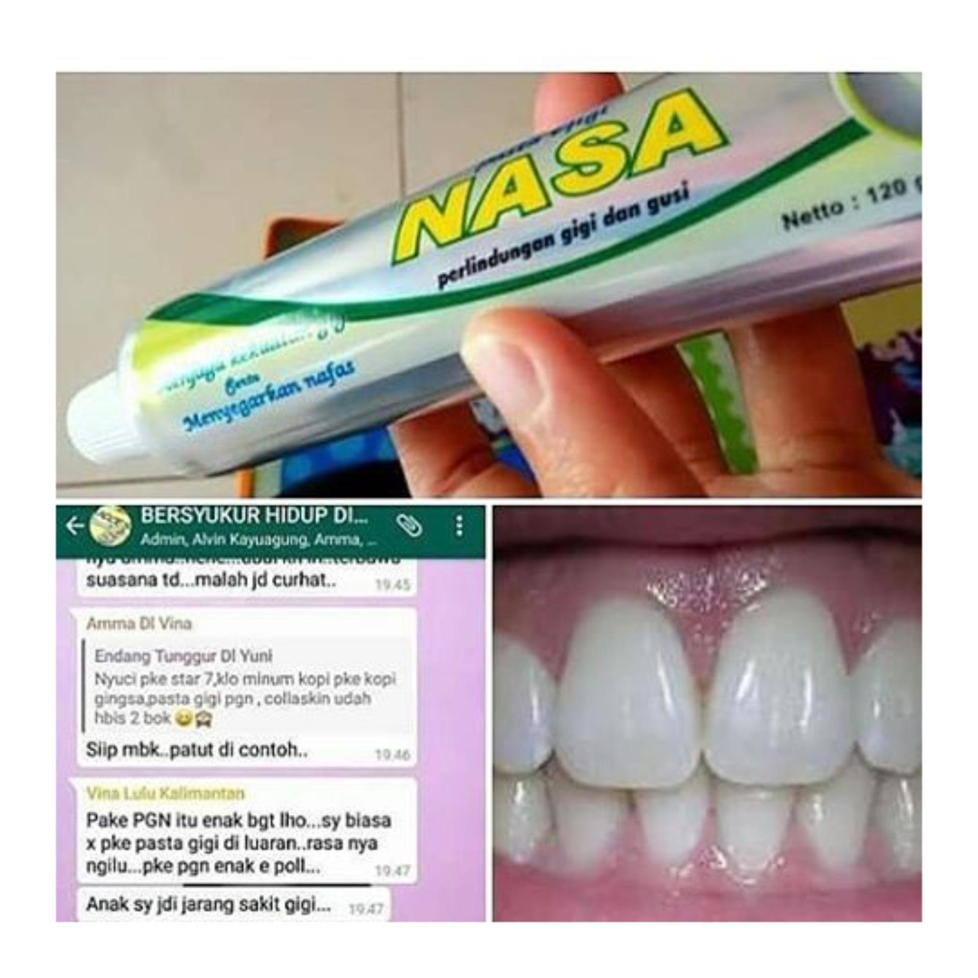 Pasta gigi Nasa Pemutih gigi obat sakit gigi dan sariawan