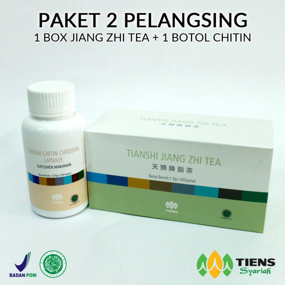 Harga Baru Pelangsing Badan Tiens Paket 1 Box Teh Botol Tianshi Jiang Zhi Tea Flash Sale Chitosan