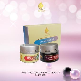 Pemutih Wajah Yang Kusam Dan Berminya Berjerawat Royalty Cosmetic Paket Gold Pemutih Wajah Pria Dan Wanita Secara Alami 100% Produk Asli Dan Halal Memutihkan Wajah Yang Berminyak,kusam,hitam Yang Ampuh