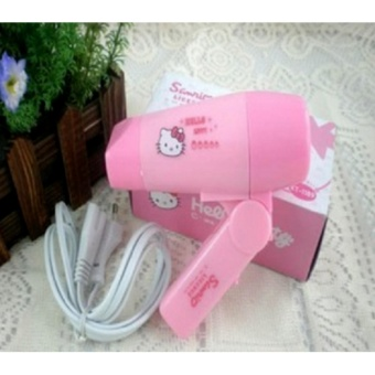 Harga Pengering rambut Hair Dryer model Hello Kitty salon cantik lucu BHR016 Murah