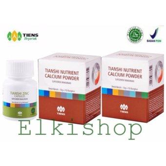 Peninggi Badan Terbaik dunia Nutrient Hight Calsium Powder dan ZincTiens