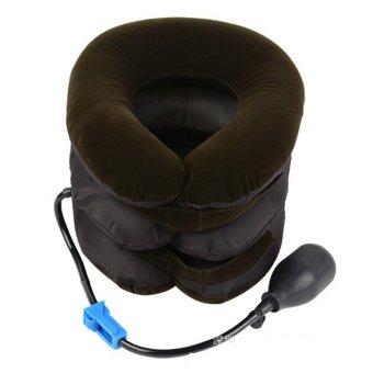 Detail Gambar Penyangga leher serviks nyeri bahu rileks mendukung pemijat lembutbantal bantalan udara traksi perawatan kesehatan alat (coklat) ...