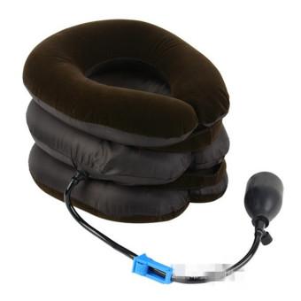 Penyangga leher serviks nyeri bahu rileks mendukung pemijat lembutbantal bantalan udara traksi perawatan kesehatan alat (