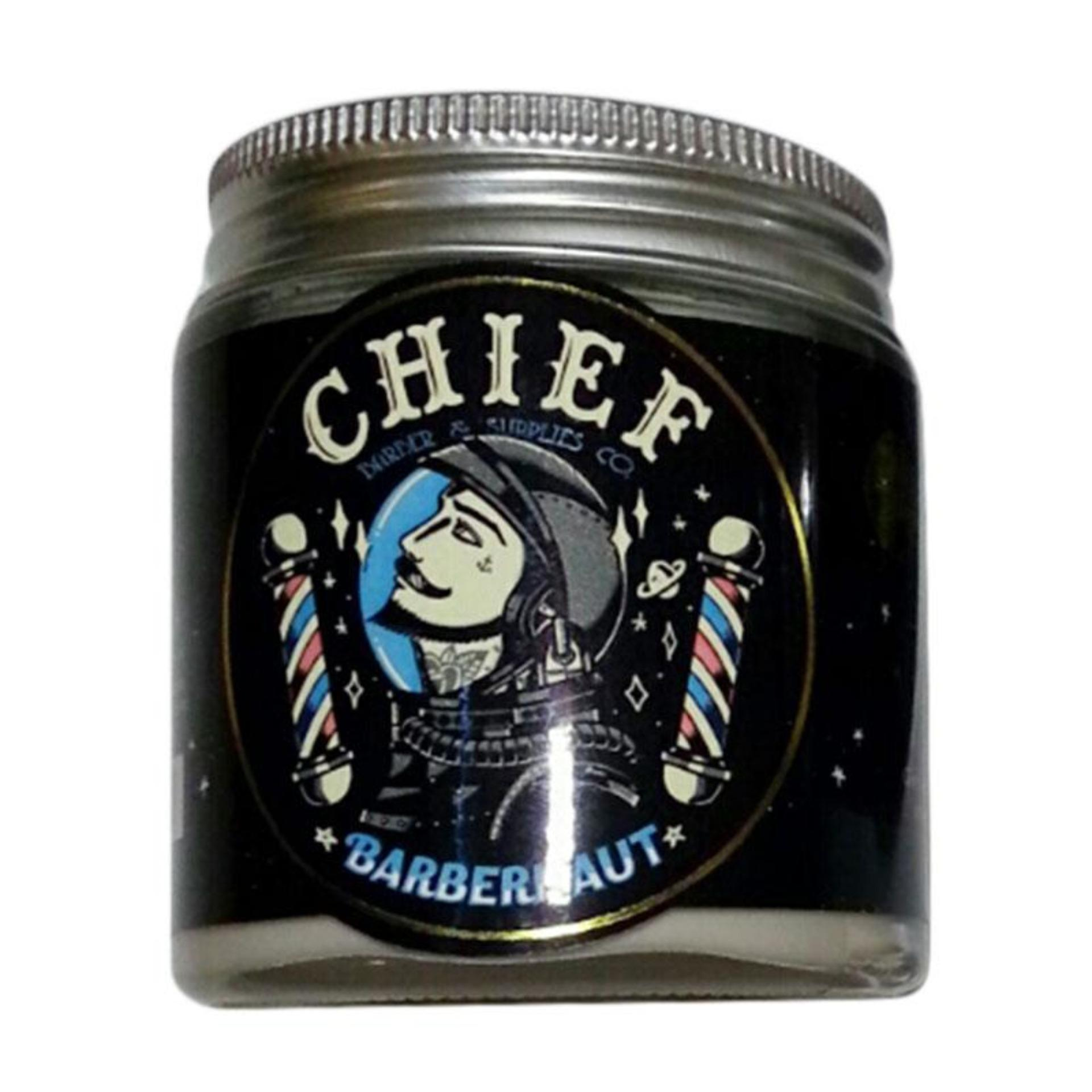 DISKON..! POMADE CHIEF BARBERNAUT SPACE CLAY STRONG HOLD 4.2 OZ Terbaik