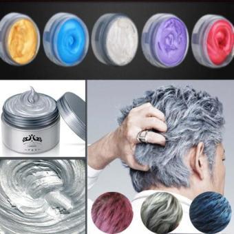 Pomade Hair Color Japanese Wax Pewarna Rambut Non Permanen - Blue120 gr