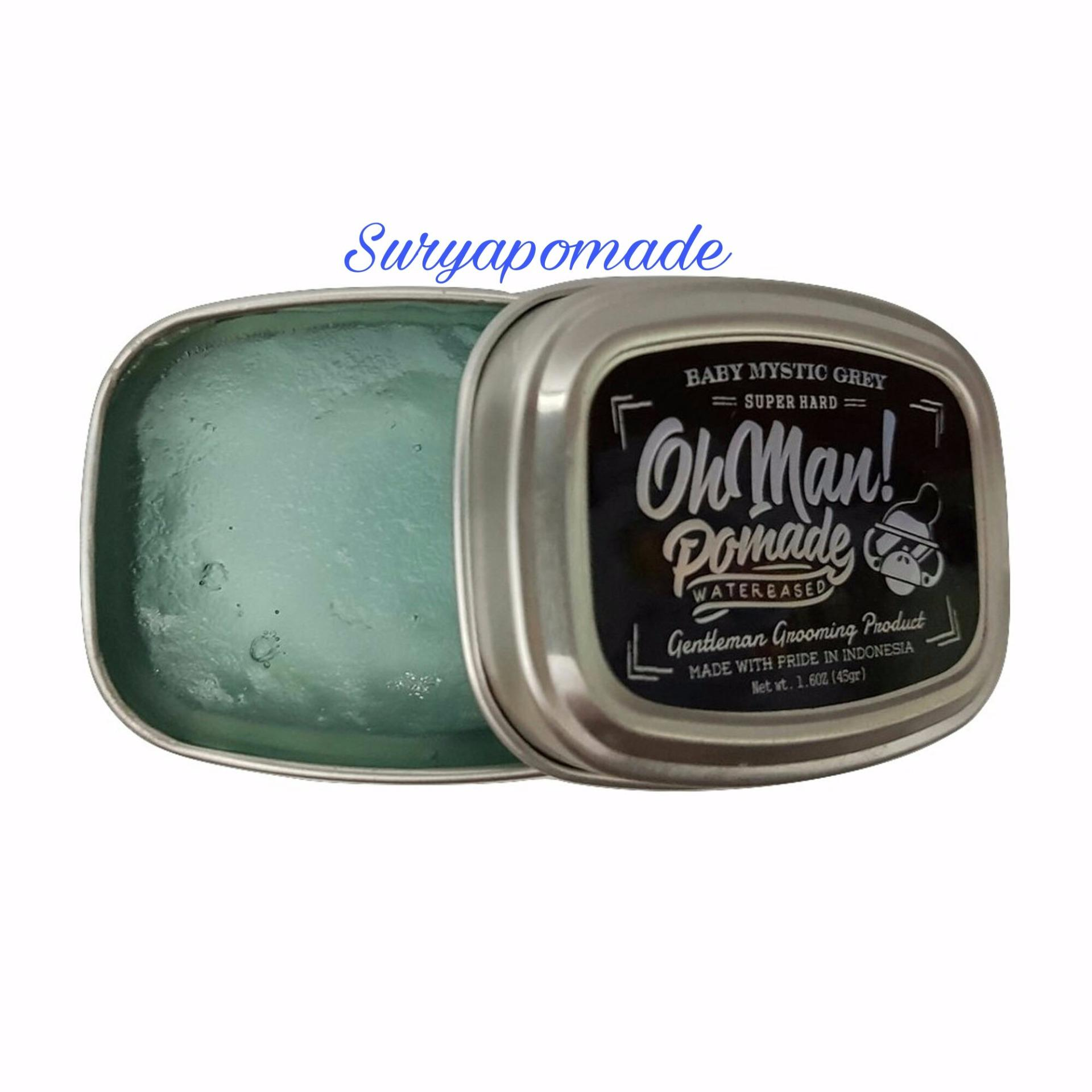 REVIEW Pomade Oh man! Baby Mystic Grey Ohman Mini Waterbase Heavy 45gr – Free Sisir Terbagus