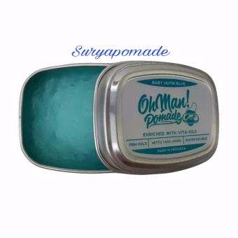 Harga Pomade Oh man! Baby Nutri Blue Ohman Waterbased Mini Strong Hold – 45gram Free Sisir Murah