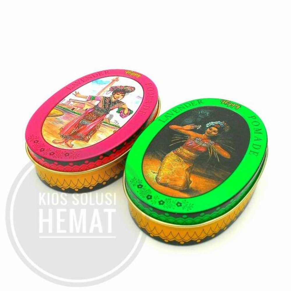 REVIEW POMADE RED AND GREEN HAPPY LAVENDER 2 Pcs – 65gr Terpopuler
