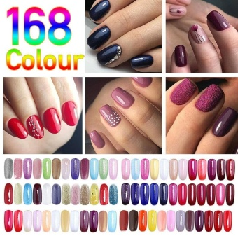 Popular 168 Colors Nail Gel Polish UV Soak Off Gel Nail Art Long Lasting Gel Makeup Art - intl