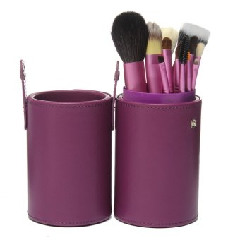 Pro 13 buah bedak tabur Makeup Brush Set kuas kosmetik Kit dankasus Cup Holder ungu
