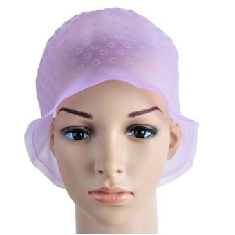 Harga Pro Dapat Digunakan Kembali Silikon Warna Highlight Rambut Topi HatBerwarna Merah Muda Murah