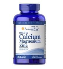 Puritan Pride Chelated Calcium Magnesium Zinc Peninggi Badan - 250 Capsules