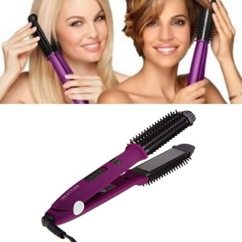 Harga Purple Multifunction hairdressing automatic electric hair curlers comb for woman – intl Murah